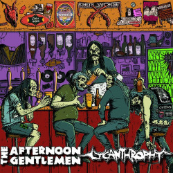 THE AFTERNOON GENTLEMEN // LYCANTHROPHY - coloured haze split 10""