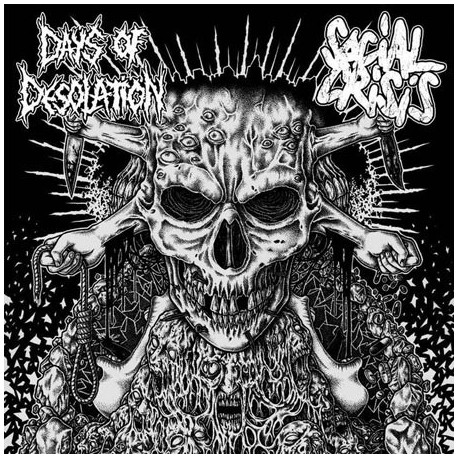 "DAYS OF DESOLATION // SOCIAL CRISIS - split 7"""
