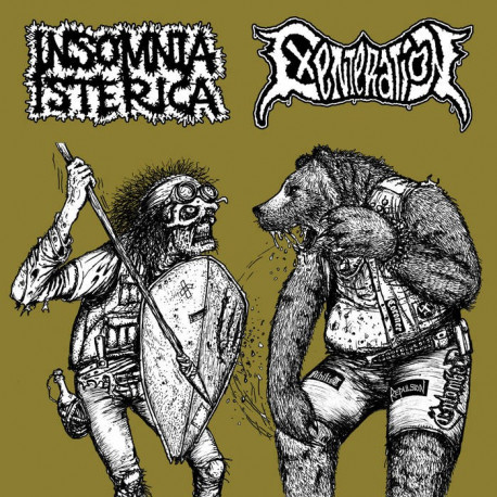 INSOMNIA ISTERICA // EXENTERATION - split 7""