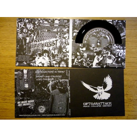 """GIFTGASATTACK - Peace//Collapse//Destroy - 5"""""""