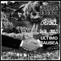"""V/A WAR IS BUSINESS - CONTROLLED EXISTENCE // SOCIAL CRISIS // MATKA TERESA // ULTIMO RAUSEA - 4 way split 7"""""""