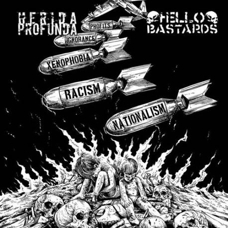"HERIDA PROFUNDA // HELLO BASTARDS - Split 7"""